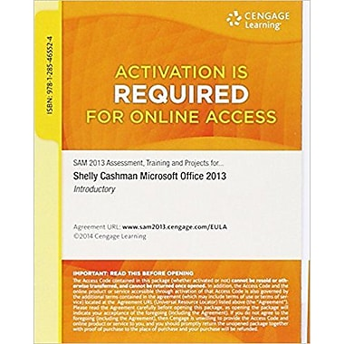 SAM 2013 Assessment, Training & Projects with MindTap Reader for Microsoft Office 2013, Used Book (9781285465524)