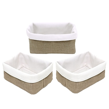 Cathay Importers Jute Reversible Rectangular Basket, 15