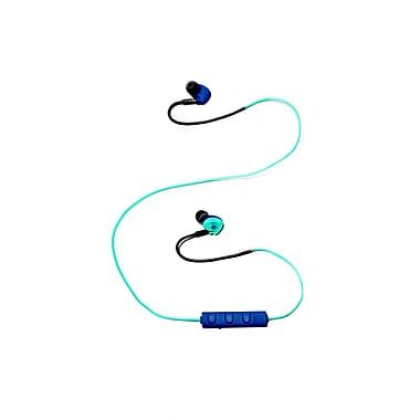 Z Budz Bluetooth Sports Earbuds with Mic and Volume Settings, Turquoise