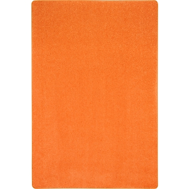 Joy Carpets Just Kidding, 12' x 15', Tangerine Orange