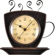 Red Barrel Studio Babara Bronze Coffee Cup Wall Clock