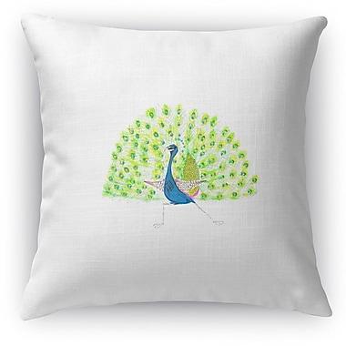 Kavka Full Peacock Throw Pillow
