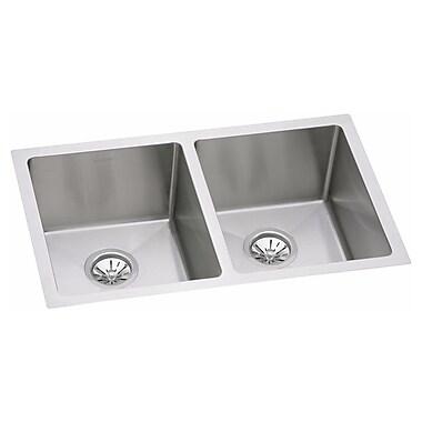 Elkay Avado 30.75'' x 18.5'' Stainless Steel Double Bowl Undermount Kitchen Sink