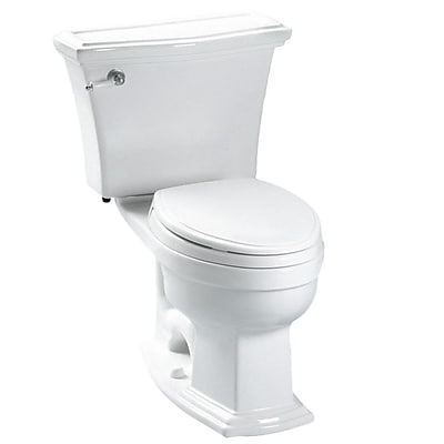 Toto Clayton 1.6 GPF Elongated Two-Piece Toilet; Colonial White