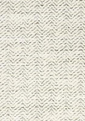 Brayden Studio Crossman White Sophisticated Zags Area Rug; 7'10'' x 10'10''