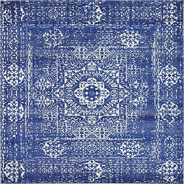 Unique Loom Blue Area Rug; Square 8'4''