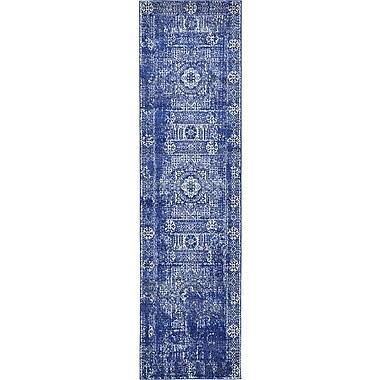 Unique Loom Blue Area Rug; Runner 2'7'' x 10'