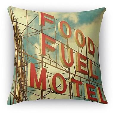 Kavka Food Fuel Motel Throw Pillow; 18'' H x 18'' W x 5'' D