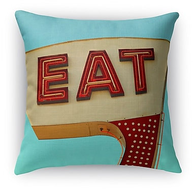 Kavka Eat Throw Pillow; 18'' H x 18'' W x 5'' D