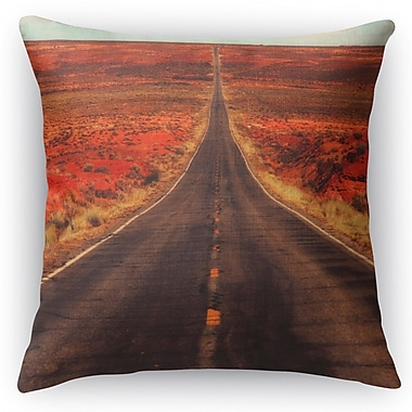 Kavka The Long Way Home Throw Pillow; 16'' H x 16'' W x 5'' D
