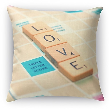 Kavka Love Is The Word Throw Pillow; 24'' H x 24'' W x 5'' D