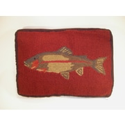 Elegant Decor Fish Wool Lumabr Pillow