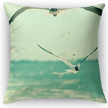 Kavka Gulls Throw Pillow; 18'' H x 18'' W x 5'' D