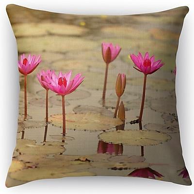 Kavka Lotus Throw Pillow; 16'' H x 16'' W x 5'' D