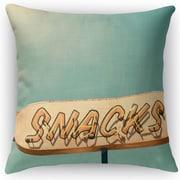 Kavka Snacks Throw Pillow; 24'' H x 24'' W x 5'' D