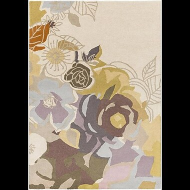 Brayden Studio Meads Lavender/Mauve Area Rug; 2' x 3'