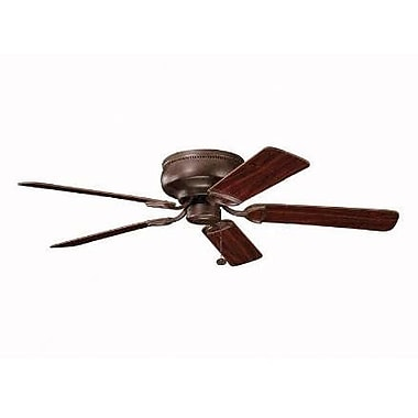 Charlton Home Cerro 52'' 5 Blade Fan; Oil Brushed Bronze with Cherry/Walnut Blades