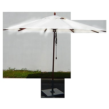 Greencorner 11' Market Umbrella; Natural
