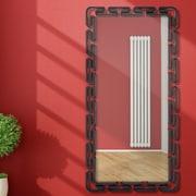 Majestic Mirror Impressive Rectangular Wall Mirror; Black