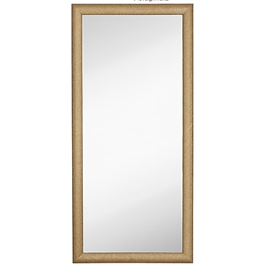 Majestic Mirror Sparkling Rectangular Glitter Framed Wall Mirror; 75'' H x 35'' W
