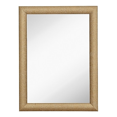 Majestic Mirror Sparkling Rectangular Glitter Framed Wall Mirror; 40'' H x 30'' W