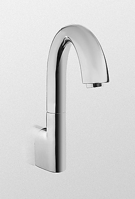 Toto Eco Power Wall Mounted Electronic Gooseneck Thermal Mixing Bath Faucet