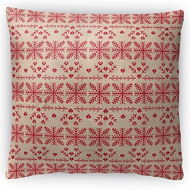 Kavka Christmas in Red Throw Pillow; 18'' H x 18'' W x 4'' D