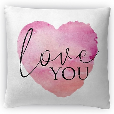 Kavka Love You Throw Pillow; 16'' H x 16'' W x 4'' D
