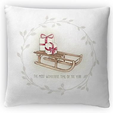Kavka Sled Throw Pillow; 16'' H x 16'' W x 4'' D