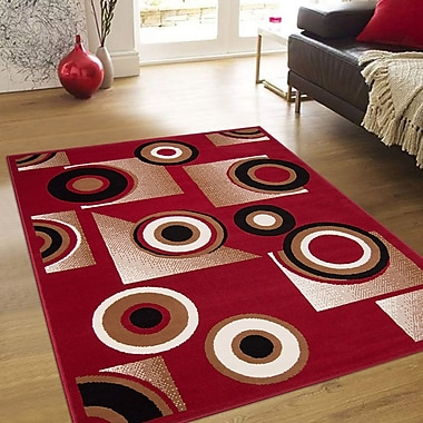 AllStar Rugs Hand-Woven Red Area Rug; 7'7'' x 10'6''