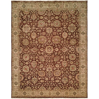 Wildon Home Bashir Hand-Knotted Brown / Ivory Area Rug; 2' x 3'