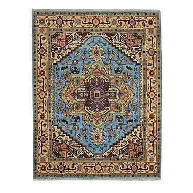 Wildon Home Hand-Knotted Blue Area Rug; 8' x 10'