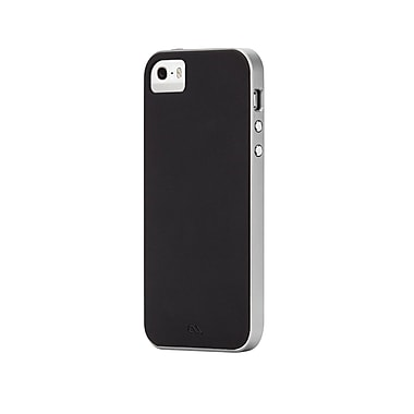 Case-Mate - Étui Slim Tough pour iPhone 5/5s/SE, noir/argenté (CM031072)