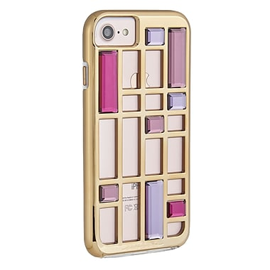 Case-Mate Caged Crystal Case for iPhone 7, Rose Gold/Iridescent (CM034698X)