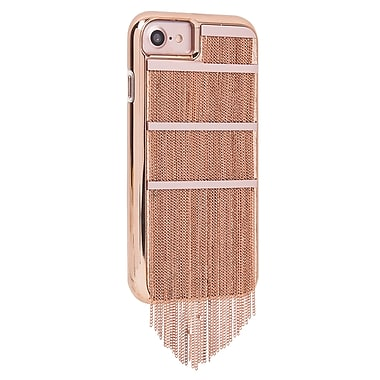 Case-Mate Metal Fringed Leather Case for iPhone 7, Rose Gold (CM034704X)