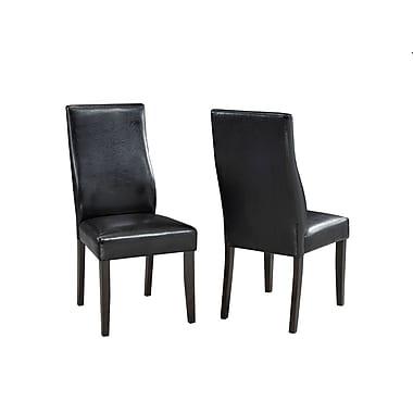 Brassex Scottsdale Side Chair, Set of 2, Espresso
