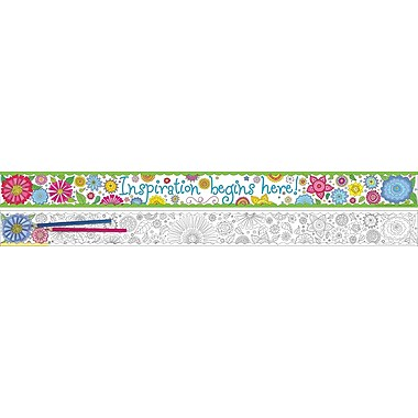 Barker Creek Color Me! In My Garden Double-sided Trim, 35-ft of trim per package (BC911)
