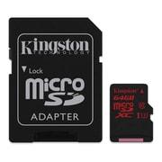 Kingston UHS-I Class 3 MicroSDHC Flash Card, 64 GB (SDCA3/64GB)