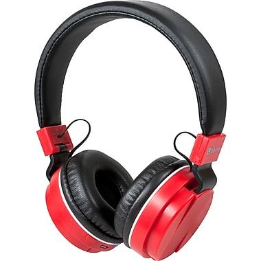 Borne - Casque d'écoute sans fil supra-auriculaire Bluetooth avec microphone, rouge (BTHP02-RD)