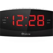 Borne – Radio-réveil à écran de 1,8 po CR1830D, AM/FM