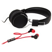 Borne Noise Isolating In-Ear & Over-Ear Headphone Bundle with Mic