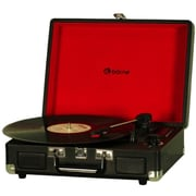 Borne TB401-BK Suitcase Stereo Turntable with Speakers, 3 Speeds