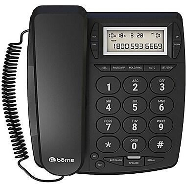 Borne - Téléphone grosses touches avec fil PH305BC-BK avec Afficheur