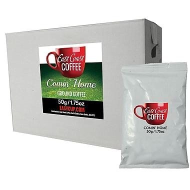 East Coast Coffee, Comin' Home Ground Coffee Fraction Packs, Medium Blend, Light Roast, Smooth, 2.25oz