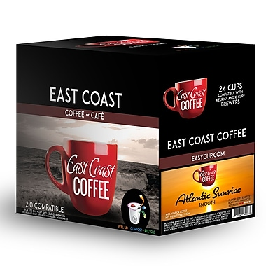 East Coast Coffee - Samuel D's, aventureux, intense, robuste, 24 capsules K-Cup, recyclable