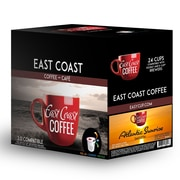 East Coast Coffee, Atlantic Sunrise, Breakfast Blend, Light Roast, Smooth, 24 K-Cups,Recyclable