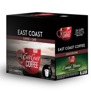 East Coast Coffee - Café Comin' Home, accueillant, torréfaction moyenne, 24 capsules K-Cup, recyclable