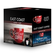 East Coast Coffee, Highland Grog, Hazelnut Flavour, 24 K-Cups, Recyclable