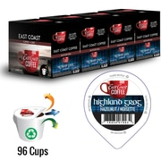 East Coast Coffee, Highland Grog, Hazelnut Flavour, 96 K-Cups, Recyclable