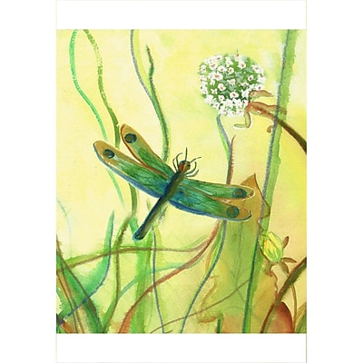 Winston Porter 'Garden Dragonfly' Painting Print on Canvas